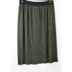 Jupe plissée verte